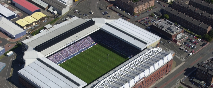 Ibrox Stadium - aerial view
